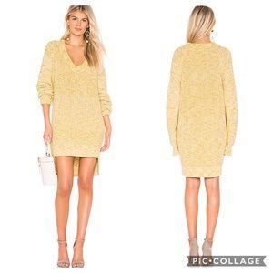 Free People Sunday Yellow Oversized Sweater Dress